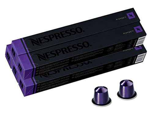 Nespresso Capsules OriginalLine, Arpeggio Intenso, Dark Roast Coffee, 50 Count Coffee Pods, Brews 1.35oz