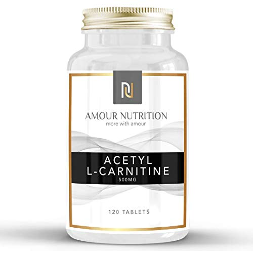 Acetyl L-Carnitine, 500mg x 120 Servings, Improve Cognitive and Sports Performance,Vegan and Vegetarian Friendly