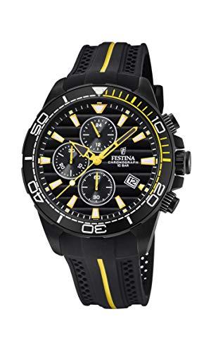 Festina Herren Chronograph Quarz Uhr mit PU Armband F20366/1