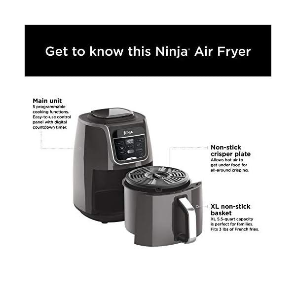 Ninja AF150AMZ Air Fryer XL that Air Fry's, Air Roast's , Bakes, Reheats, Dehydrates with 5.5 Quart Capacity, and a high…