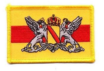 Flaggen Aufnäher Patch Großherzogtum Baden Wappen NEU