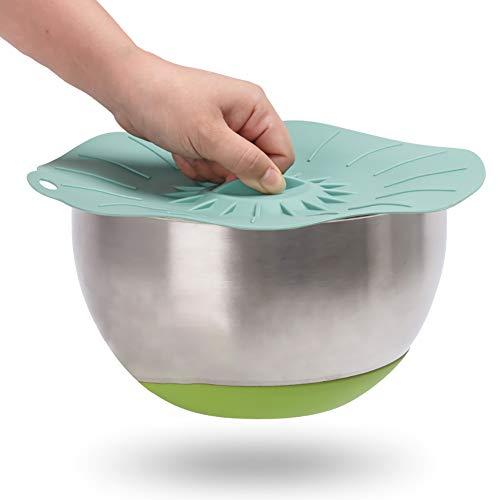 H·Aimee Tapas-de-Silicona Reutilizable-Ajustables Fundas para Alimentos-Protectoras - para Varios recipientes,Lavavajillas,Horno microondas,congelador,Libre de BPA