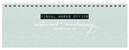 Tischquerkalender Visual Words Office 2021: 1 Woche 2 Seiten; Bürokalender mit viel Platz für Notizen; Format: 29,8 x 10,5 cm