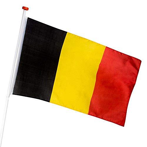 Boland BOL61914 Bandera de Poliéster Belga, cm, Multicolor, 90 x 150