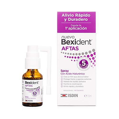 Isdin Bexident Aftas Spray con Ácido Hialurónico |Aftas Llagas Bucales, Alivio Rápido y Duradero desde la primera aplicacion 1x 15 ml