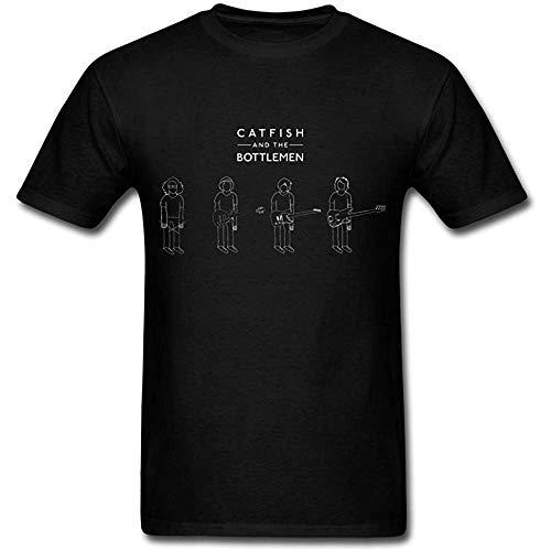 UWV huguohuadg DIY Mens Catfish And The Bottlemen Poster 2016 T-Shirt Black(Size:M
