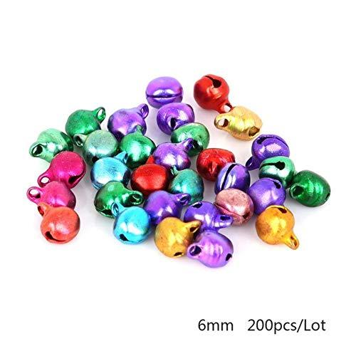 6 MM 200 Stuks Mix Kleuren Losse Kralen Kleine Jingle Bells Festival Feestdecoratie/Kerstboomversiering/DIY Ambachten Accessoires, 6 mm 200 Stuks