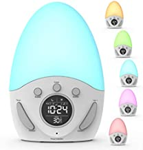 Kids Alarm Clock, Wake-up Light Clock with Sunrise Simulation, Sleep Training, Color Changing, Touch Night Light, Nursery Lamp, for Baby, Girls, Toddlers, Children