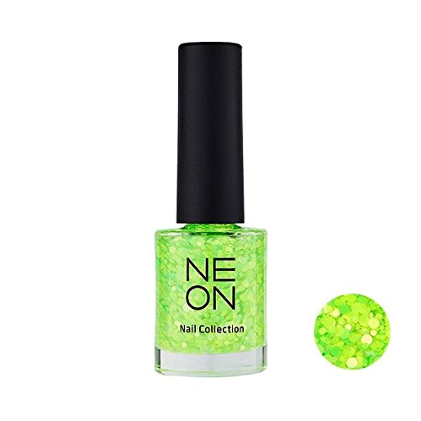 フィラデルフィア促す部It'S SKIN Neon nail collection [04 Neon Glitter green] イッツスキン ネオンネイルコレクション [04 ネオン グリッター グリーン] [並行輸入品]