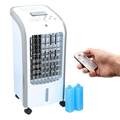 DRULINE 3in1 XXL Aircooler | 4 Liter Kapazität | Mobile Klimaanlage | 3 Geschwindigkeitsstufen | Klimagerät | Luftreiniger | Klima Ventilator | Luftkühler | Air Cooler | (Weiß)