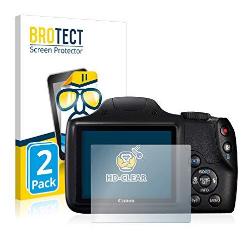 brotect Pellicola Protettiva Compatibile con Canon PowerShot SX540 HS Pellicola Trasparente (2 Pezzi) Anti-Impronte