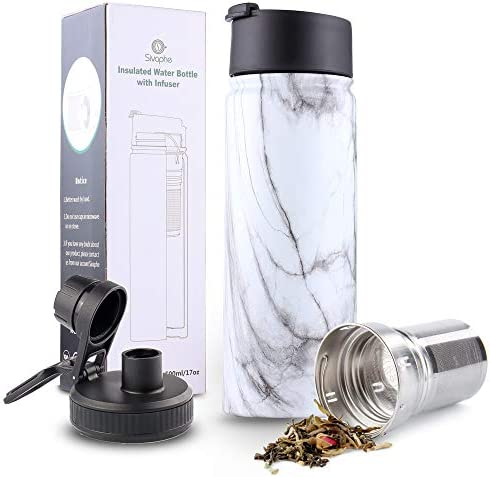 Infuser Travel Mug with Removable Tea Strainer Bottle 18 8 Stainless Steel Insulated Tumbler product image