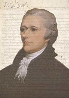 Alexander Hamilton U.S. Constitution Artwork Notebook: American History Ruled Notebook/Journal (7 x 10 Inches)