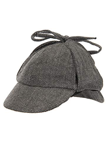 Sherlock Holmes Detective Cosplay Costume Deerstalker Hat Accessory For Adults