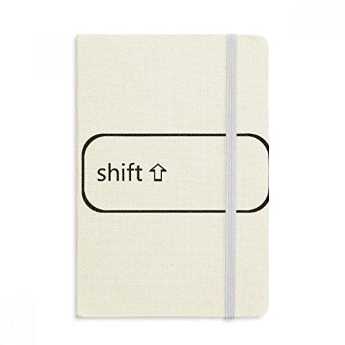 DIYthinker Teclado Shift Notebook Símbolo Tela cubierta dura clásico Diario Diario A5 A5 (144 x 210 mm) Multicolor