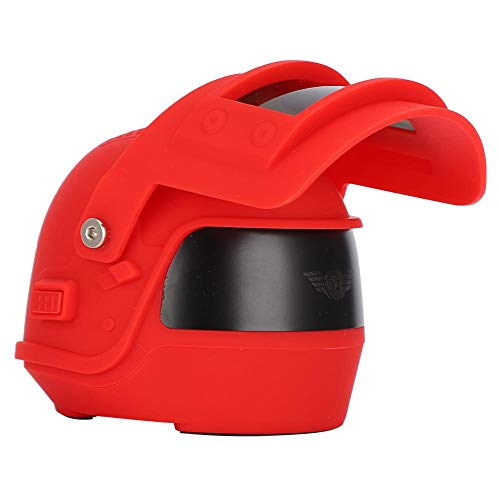 Helmvorm Draadloze Bluetooth 4.2-luidspreker met hangend touw, beugel voor mobiele telefoon Muziekspeler voor thuis, buiten reizen, voor mobiele telefoon/tablet/laptop met bluetooth(Rood)