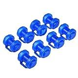 Trampolin Endkappen - 8 Stück Schutzkappen Blau | Pfostenkappen für die Netzstangen des Trampolins | Innenliegend Sicherheitsnetz Kappen Abschlusskappen für Netzstangen | Ø 25 MM