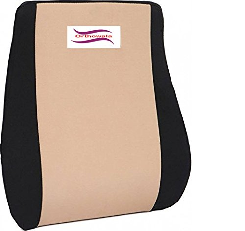 Orthowala® Executive Lumbar Support for Chair - Gold Series- ideal for Chair sofa & car chair back support - Long Size