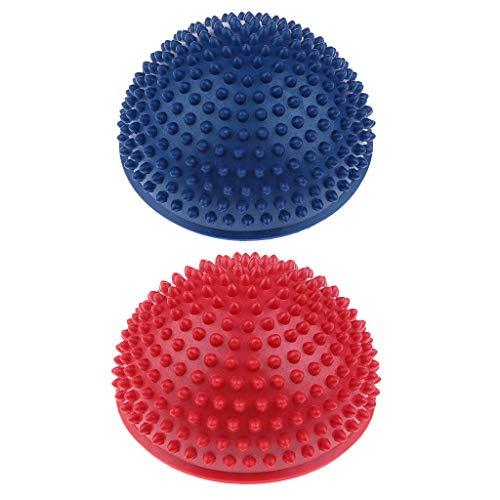 Unbekannt 2pcs Mini Balance Igel / Gymnastik Igel / Igelball für Kinder und Erwachsene ( Durchmesser: 16cm ) - Rot + Dunkelblau