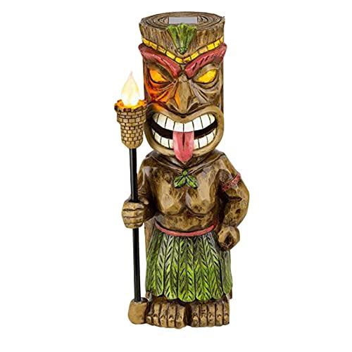 Ornamentos Maias Solares para Ambientes Externos com Torch Resina Cultural Mayan Charm Artesanato para Casa Jardim Pátio