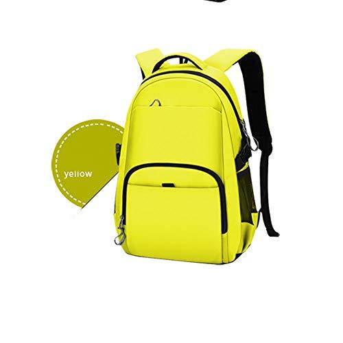 Shabnbhaczsjianbb Zaini Zaino for Laptop da Scuola Zaino for Computer da 16 Pollici, Borsa Idrorepellente, Zaino da Viaggio, Zaino Elegante da College (Color : Yellow, Size : XL)