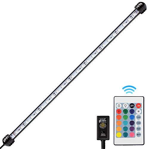 NICREW Lampe LED RGB 48cm pour Aquarium, Lampe Tube Etanche et Submersible, Eclairage LED pour Aquarium, 5W