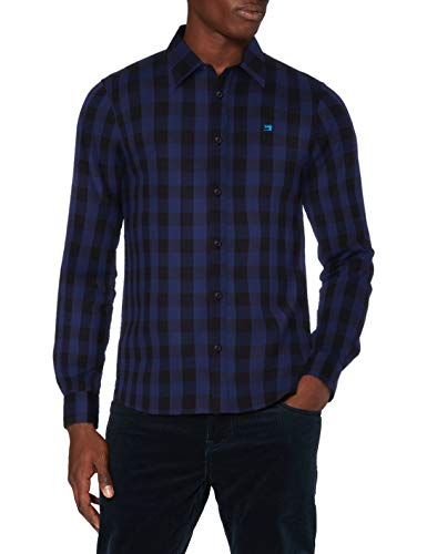 Scotch & Soda Mens Karo Regular Fit Shirt, Combo B 0218, L