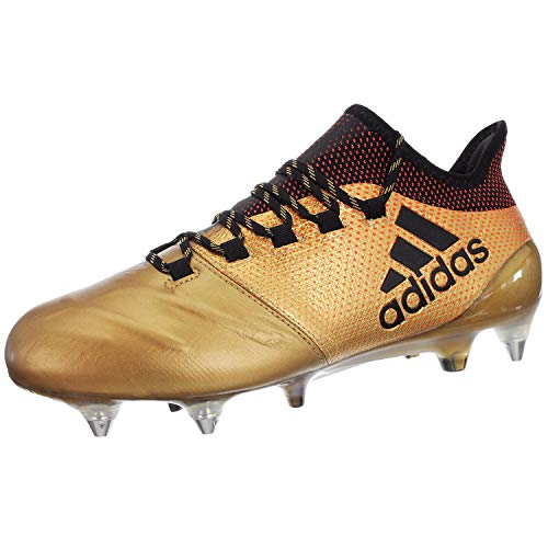 adidas Herren X 17.1 SG Fußballschuhe, Grau (Onix/Cblack/Solred Onix/Cblack/Solred), 40 2/3 EU