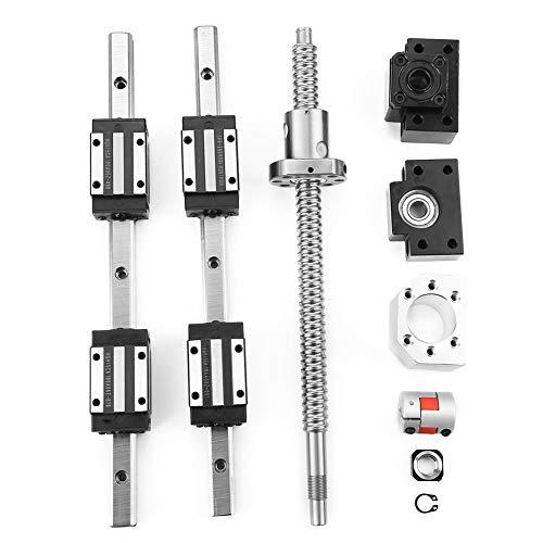 Guida lineare, 2 pezzi HGR15-300mm e 1pc RM1605-300mm Ballscrew & BF12/BK12 Kit