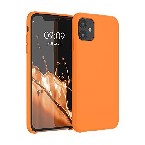 kwmobile Hülle kompatibel mit Apple iPhone 11 - Hülle Silikon gummiert - Handyhülle - Handy Hülle in Cosmic Orange
