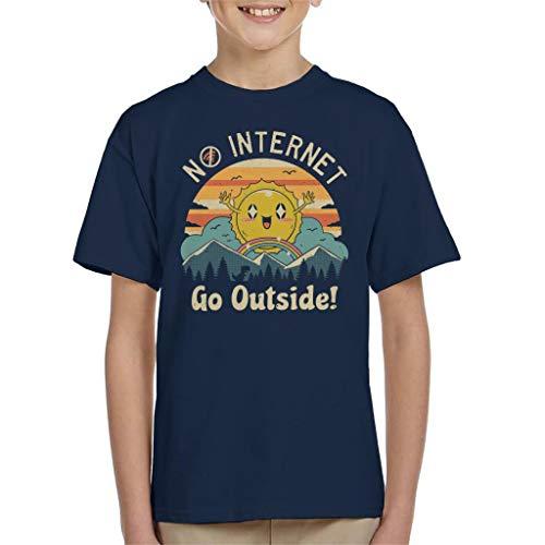 Geen Internet Vibes Kid's T-shirt