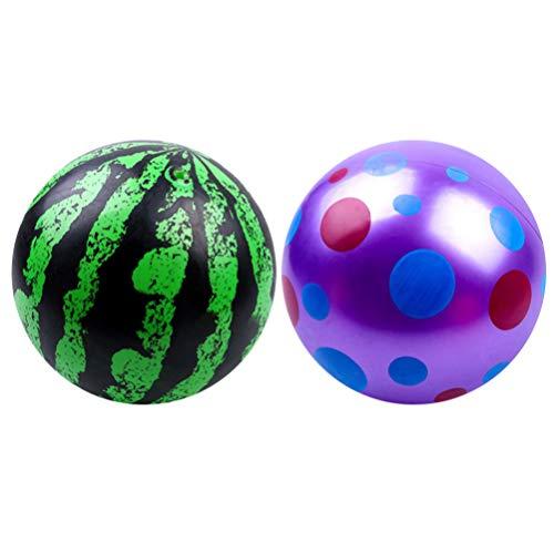 BESPORTBLE 2 Stück Spielball Wasserball aufblasbare Ball 20cm Kinder Fußball Wurfball PVC Strand Ball Kinder Sportball Beachball Fussball drinnen draußen für Kleinkinder Mädchen Jungen