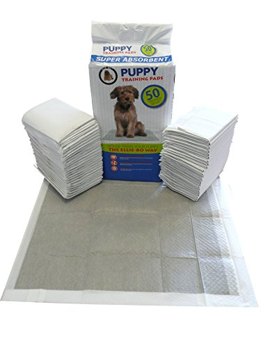 Ellie-Bo 50 x Super Absorbent Puppy Training Pads with Active Charcoal and Super Absorbent Polymer...