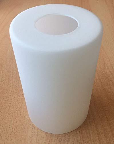 Lampenschirm G0770 Weiß Glas, E27 Ersatzglas, Schirm, Ersatzschirm, Lampenglas für Pendellampe, Tischlampe, Fluter, Leuchte (weiß)