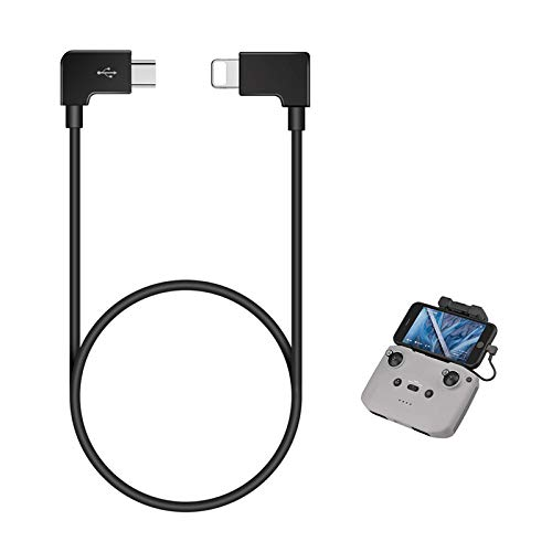 Mavic Air 2 OTG Cable for iPhone to Type C 1FT Right Angle Compatible with DJI Mavic Air 2 Controller/OSMO Pocket, 11.8 inches Remote Controller Extension RC Data Cord Accessories 90 Degree