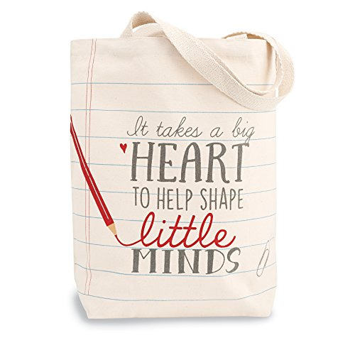 Heart Teacher Canvas Tote Bag