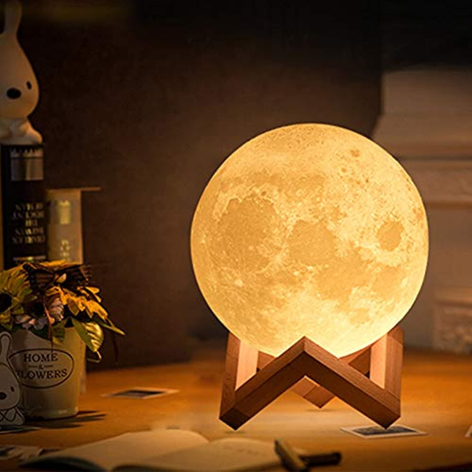 KAIYED 3D Print Moon Lamp 20Cm 18Cm 15Cm colorful Change Touch USB Led Night Light Home Decor Creative Gift