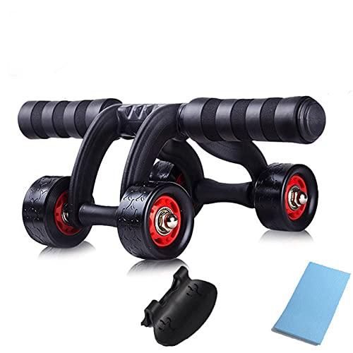 AB Roller 4 rueda potencia abdominal rueda rodillo entrenador para entrenamiento fitness gimnasio ejercicio cuerpo edificio equipo de ejercicio para uso en el hogar AB Rodillo de ejercicio rueda
