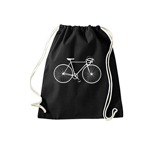 Unbekannt Turnbeutel Fahrrad bike Rad Bonanza BMX Kult Gymsack Kultsack schwarz