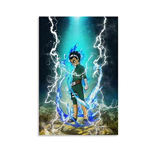 Jianshen Anime Naruto Rock Lee Game Birthday Poster Decorative Painting Canvas Wall Art Living Room Posters Bedroom Painting 16x24inch(40x60cm)