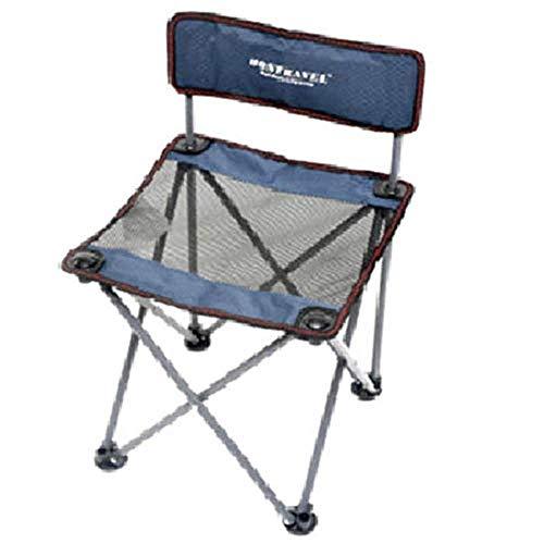 YLCJ Kleiner Klappstuhl im Freien Tragbares Netzwerk Studenten Malen Zeichnen Stuhl Oxford Freizeit Tuch JINRONG Angeln Stuhl (Farbe: Blau)