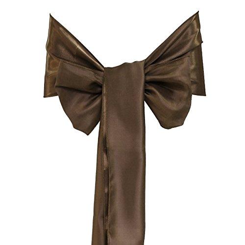 Pixnor Couverture de chaise Pixnor 25pcs 15x275cm Bowknot ceintures noeuds rubans pour décoration de fête mariage Banquet