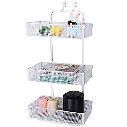 Hanging Kitchen Baskets - MILIJIA 3 Tier Free Standing Mesh Basket Organizer with Hooks for Kitchen Bathroom Pantry
