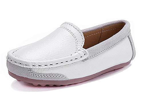 Mocasines de Piel para Niños,Chicos Chicas Pisos Moda Loafers Niña Comodidad Casual Zapatos para Caminar