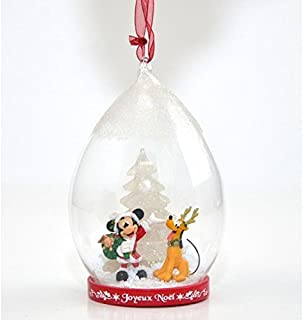 Disneyland Paris Santa Mickey and Pluto Light-up Christmas Done Ornament