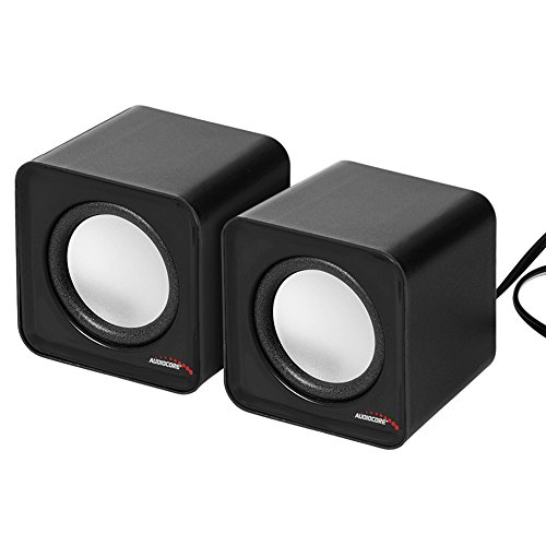 Audiocore AC870 6W USB Cube Portable Bookshelf Speakers PC/Laptop/Tablet...