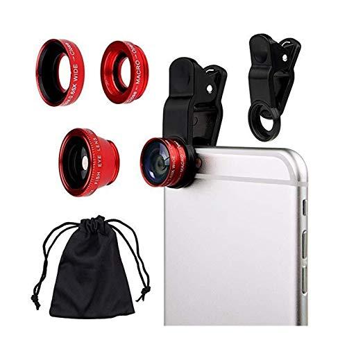 Lente de la cámara 3 en 1 lente 0.65X Juego de dispositivos de ojo de pez de 180 grados 10X Macro Lente Gran Angular HD lente de la cámara for IPhone 8/7 / 6s Plus / 6s / 5s Teléfono Cubierta de la le