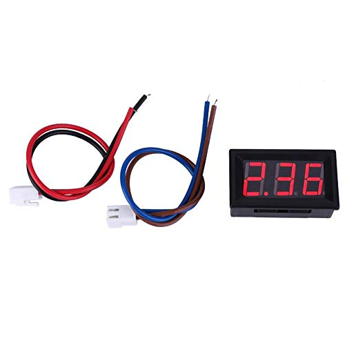 Digital Amperemeter, 0,56 Zoll LED Anzeige Amperemeter Amp Testing Meter, DC Strom Mess Feld 3 Stellige Amp Gauge 0-10A(rot)