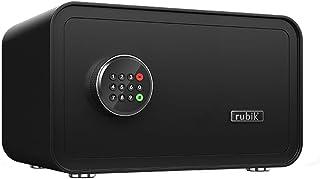 Rubik Safe Box Digital with Backup Key, Hotel Safe Box Fire Resistant for A4 Documents Laptop Macbook Tablets Camera Cash ...