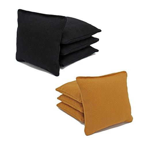 Free Donkey Sports ACA Regulation Cornhole Bags (Set of 8) (Black and Gold)
